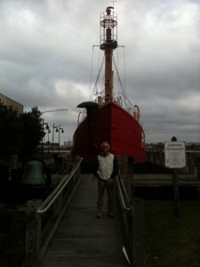 "GARY IN FRONT OF ""LIGHTSHIP PORTSMOUTH"""