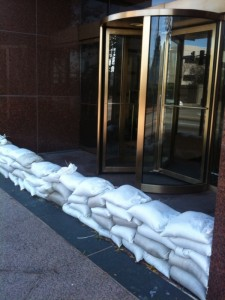 SANDBAGS USED IN NORFOLK/FLOODING FROM IDA