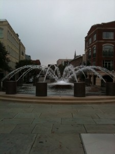 Wading fountain in Charleston, S.C. at waterfront