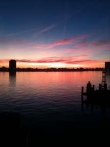 Sunset over Portsmouth, VA 11/15/09