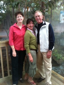 Deborah Levin and the Glenns at the North Carolina Aquarium 12-9-09