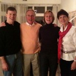 Glen and Emily Becker with the Glenns at a Bon Voyage party at Kirby and Roberta Mehrhof's