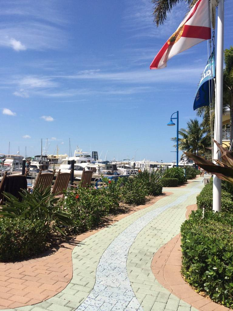 Even the marina's sidewalk is lovely.