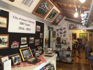Display inside the museum.  Stuart, FL will celebrate their centennial in May.