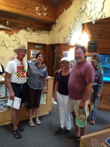 Gary, volunteer, Peggy, Paul, volunteer at Nature Center