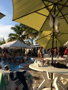 Swimming pool, dining, games, and entertainment at Grabbers