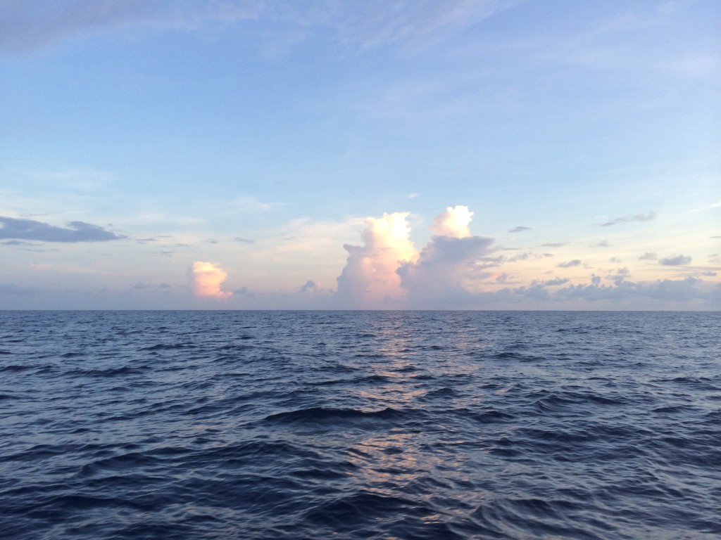 Towering clouds on the horizon