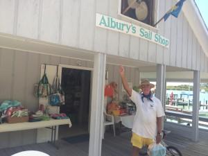 Albury's Sail Shop, Street entrance