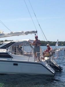 Two sailors from Nova Scotia,aboard 2009 Gemini