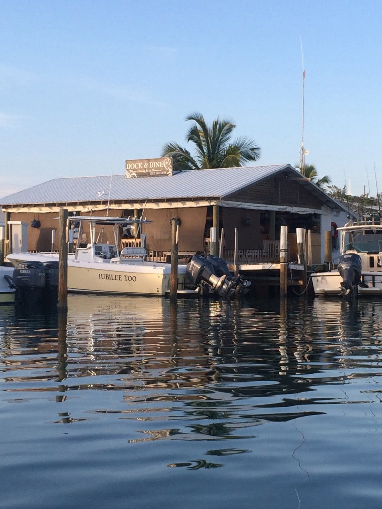 After fighting off pirates and sharks all day, we went into Man-O-War to the  Dock and Dine Restaurant for a relaxing dinner.