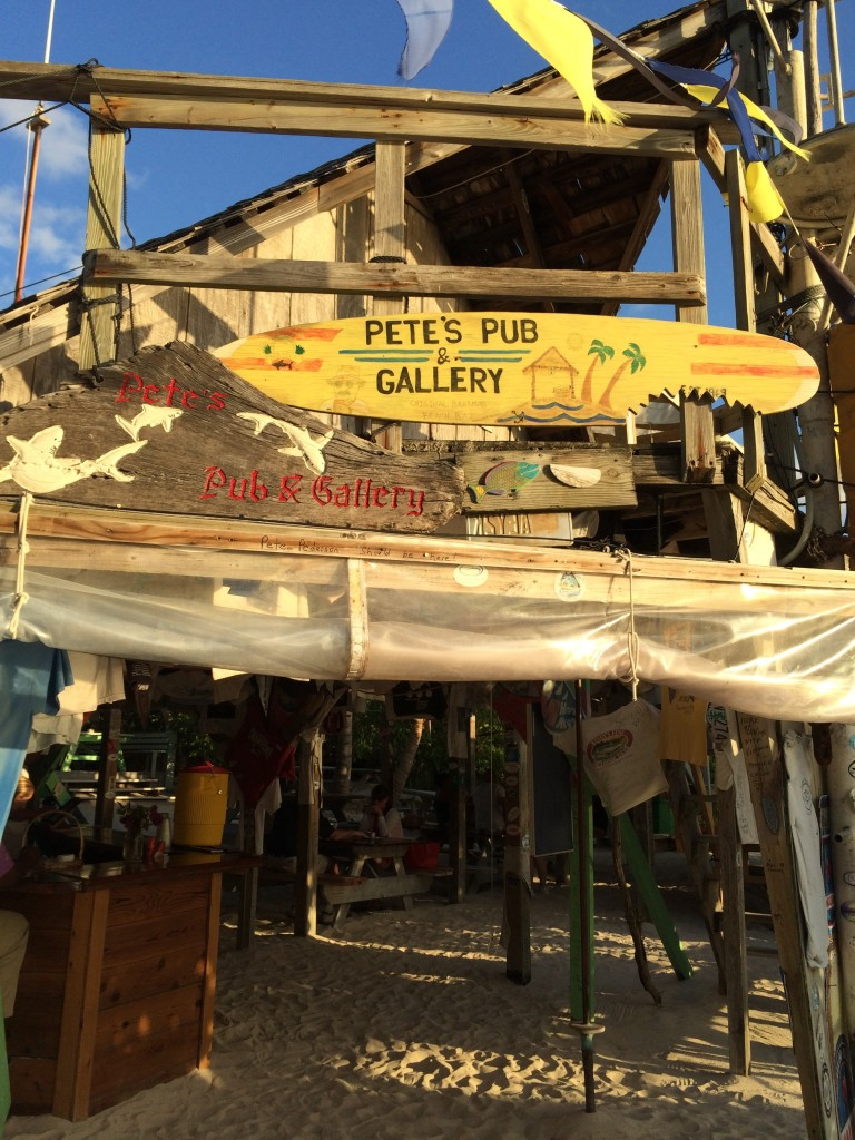 Pete's Pub, managed by his son and daughter-in-law