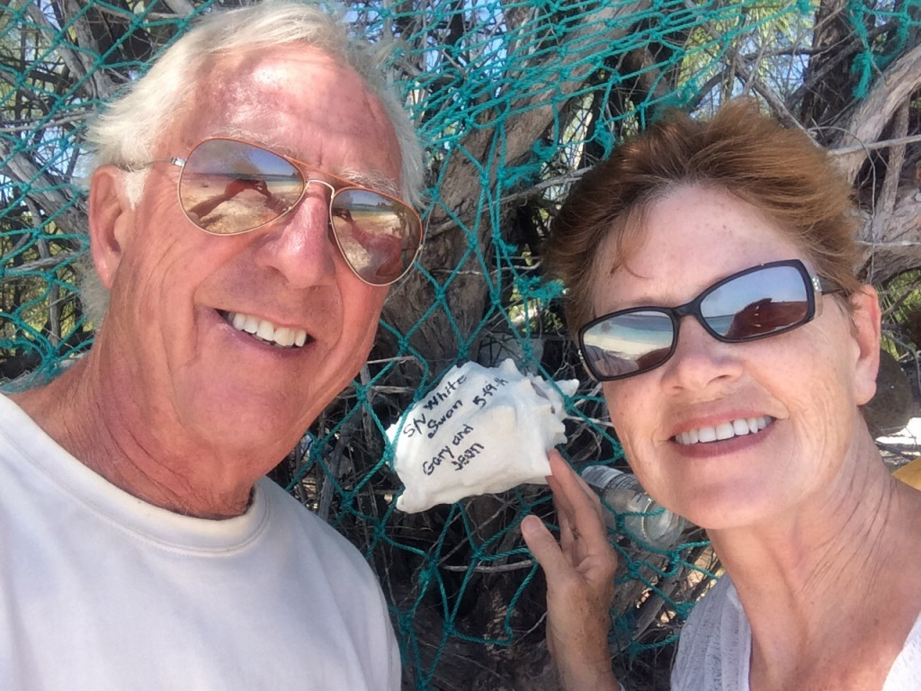 A selfie at the signing tree We left our names on a conch shell