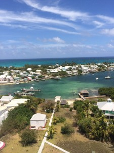 View of Hope Town  From top of lighthouse