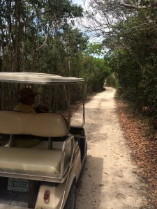Golf cart ride around Elbow Cay