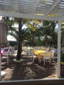 Sea Spray's  outdoor dining area
